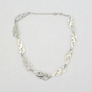 Silver flame  necklace
